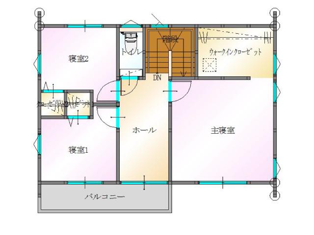 大分市須賀<A棟>の新築建売 3SLDK(2,870万円)の建売物件2F間取り画像 ジェットの建売もいいけど坂井建設の建売も必見です!