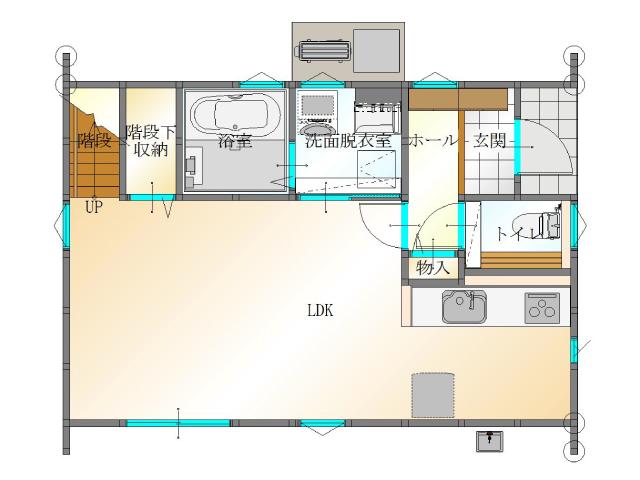 大分市須賀<B棟>の新築建売 3SLDK(2,820万円)の建売物件1F間取り画像 ジェットの建売もいいけど坂井建設の建売も必見です!