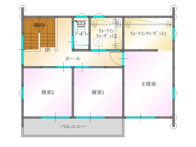 大分市須賀<B棟>の新築建売 3SLDK(2,820万円)の建売物件2F間取り画像 ジェットの建売もいいけど坂井建設の建売も必見です!