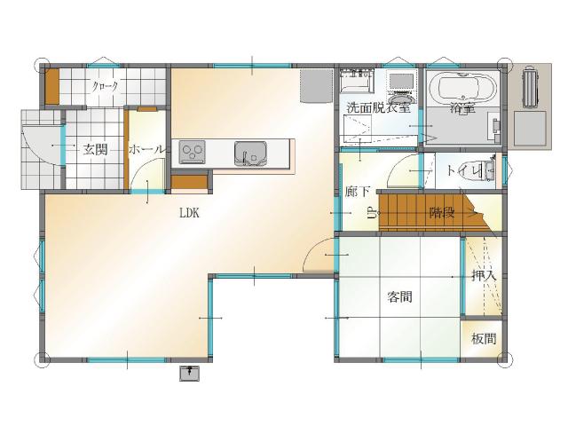 大分市中戸次の新築建売 4SLDK(2,640)の1F間取り画像 ジェットの建売が有名ですが坂井建設の建売物件もぜひ見てください!