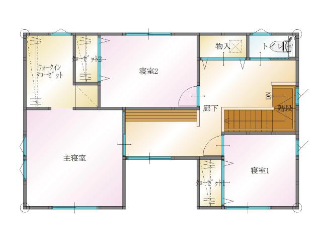 大分市中戸次の新築建売 4SLDK(2,640)の2F間取り画像 ジェットの建売が有名ですが坂井建設の建売物件もぜひ見てください!