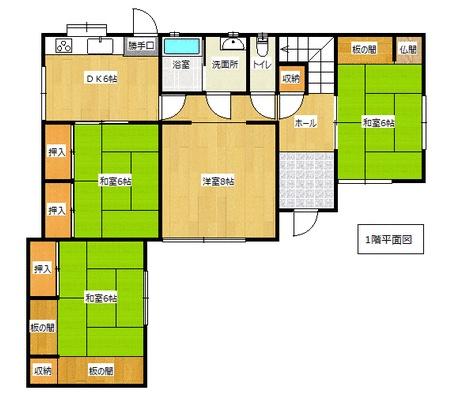 富士見が丘の新築建売 6DK(1390)の1F間取り画像 ジェットの建売が有名ですが坂井建設の建売物件もぜひ見てください!