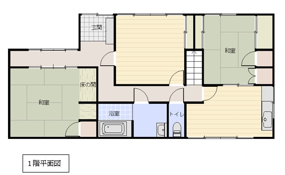 萩原の新築建売 5DK(1290)の1F間取り画像 ジェットの建売が有名ですが坂井建設の建売物件もぜひ見てください!