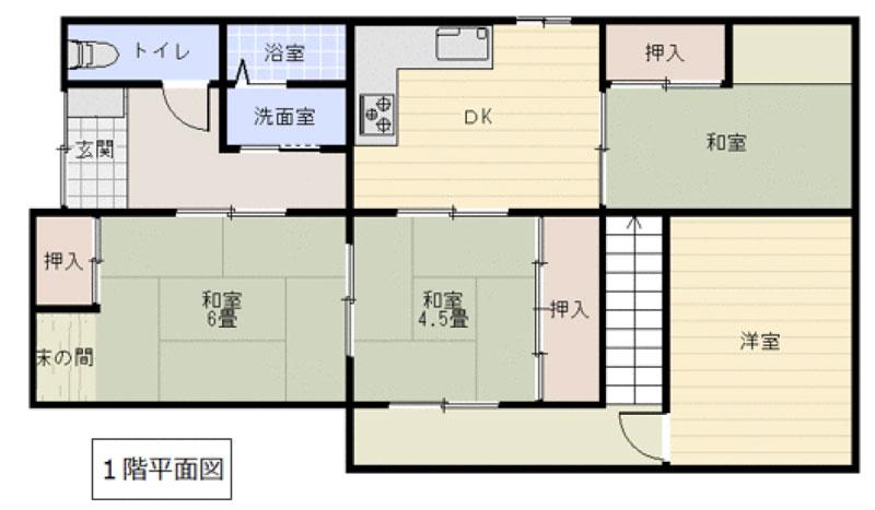 上宗方の新築建売 5DK(1150)の1F間取り画像 ジェットの建売が有名ですが坂井建設の建売物件もぜひ見てください!