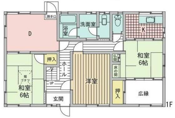 ひばりケ丘の新築建売 5LDK(1200)の1F間取り画像 ジェットの建売が有名ですが坂井建設の建売物件もぜひ見てください!