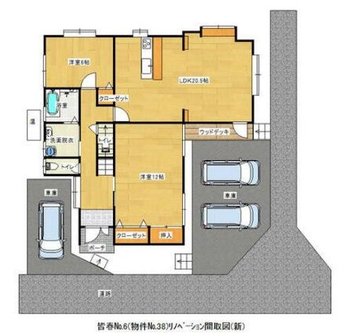 皆春の新築建売 4LDK(2090)の1F間取り画像 ジェットの建売が有名ですが坂井建設の建売物件もぜひ見てください!