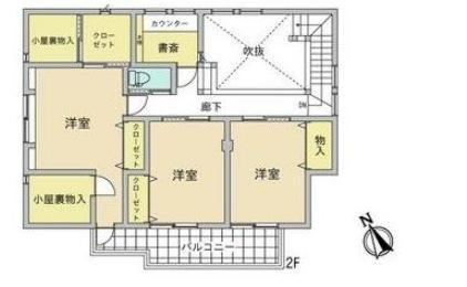 望みが丘の新築建売 4SLDK(2598)の2F間取り画像 ジェットの建売が有名ですが坂井建設の建売物件もぜひ見てください!
