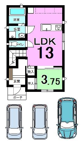 横尾の新築建売 4LDK(2400)の1F間取り画像 ジェットの建売が有名ですが坂井建設の建売物件もぜひ見てください!