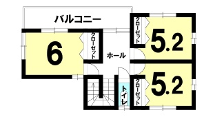 猪野の新築建売 4LDK(2590)の2F間取り画像 ジェットの建売が有名ですが坂井建設の建売物件もぜひ見てください!