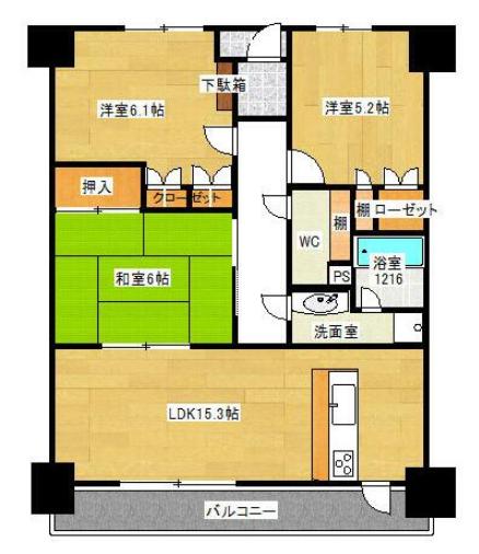 新川の新築建売 3LDK(1500)の1F間取り画像 ジェットの建売が有名ですが坂井建設の建売物件もぜひ見てください!