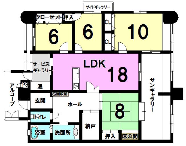 明野の新築建売 4LDK+S(2080)の1F間取り画像 ジェットの建売が有名ですが坂井建設の建売物件もぜひ見てください!