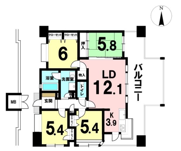 明野の新築建売 4LDK(2180)の1F間取り画像 ジェットの建売が有名ですが坂井建設の建売物件もぜひ見てください!