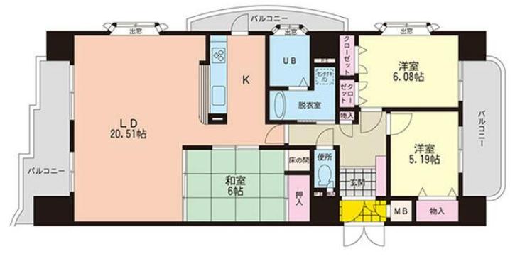 中津留の新築建売 3LDK(1690)の1F間取り画像 ジェットの建売が有名ですが坂井建設の建売物件もぜひ見てください!