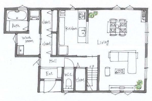 大分市田尻B棟1階間取り 大分市田尻 新築建売物件オープンハウス情報