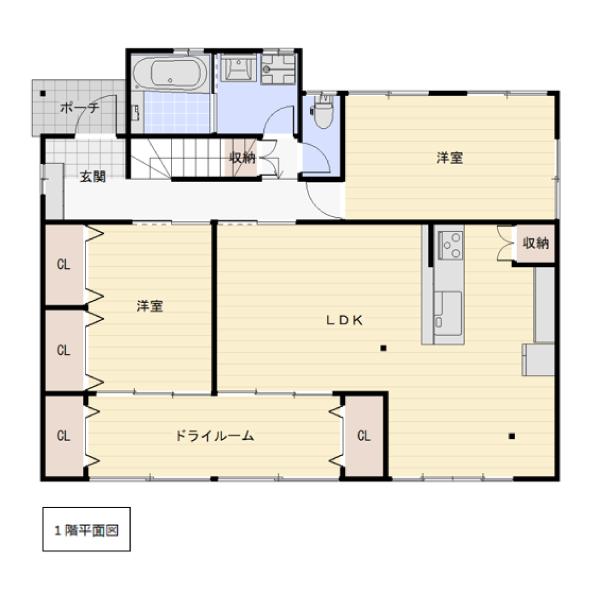 田尻の新築建売 4LDK(2780)の1F間取り画像 ジェットの建売が有名ですが坂井建設の建売物件もぜひ見てください!