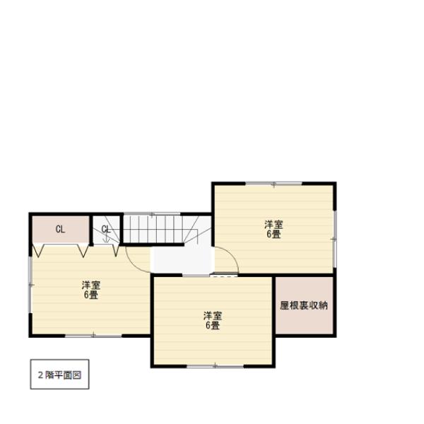 田尻の新築建売 4LDK(2780)の2F間取り画像 ジェットの建売が有名ですが坂井建設の建売物件もぜひ見てください!