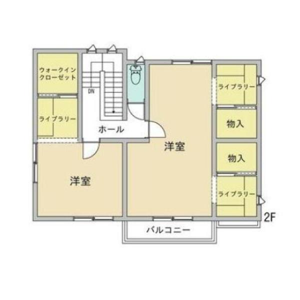 横尾の新築建売 3LDK(2380)の2F間取り画像 ジェットの建売が有名ですが坂井建設の建売物件もぜひ見てください!