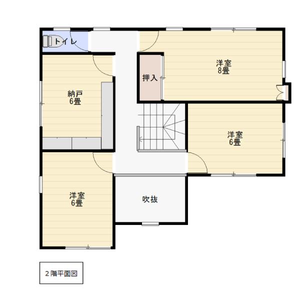 杉原の新築建売 5LDK(980)の2F間取り画像 ジェットの建売が有名ですが坂井建設の建売物件もぜひ見てください!