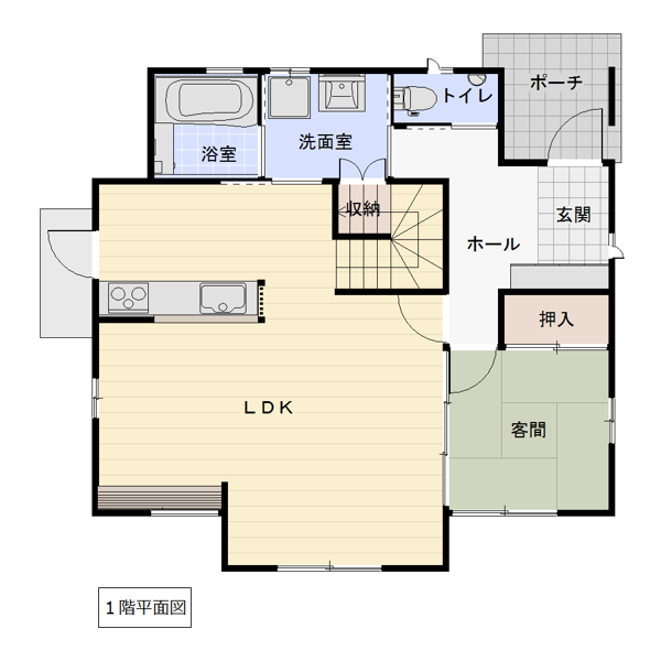 高江南の新築建売 4LDK(3080)の1F間取り画像 ジェットの建売が有名ですが坂井建設の建売物件もぜひ見てください!