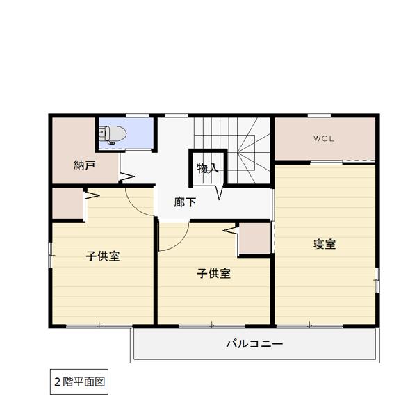 高江南の新築建売 4LDK(3080)の2F間取り画像 ジェットの建売が有名ですが坂井建設の建売物件もぜひ見てください!